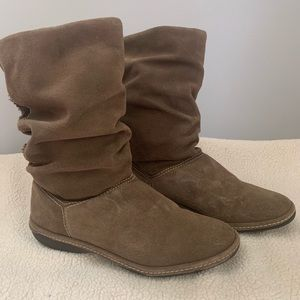 Lands end suede slouch boots